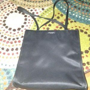 Vintage black nylon tote